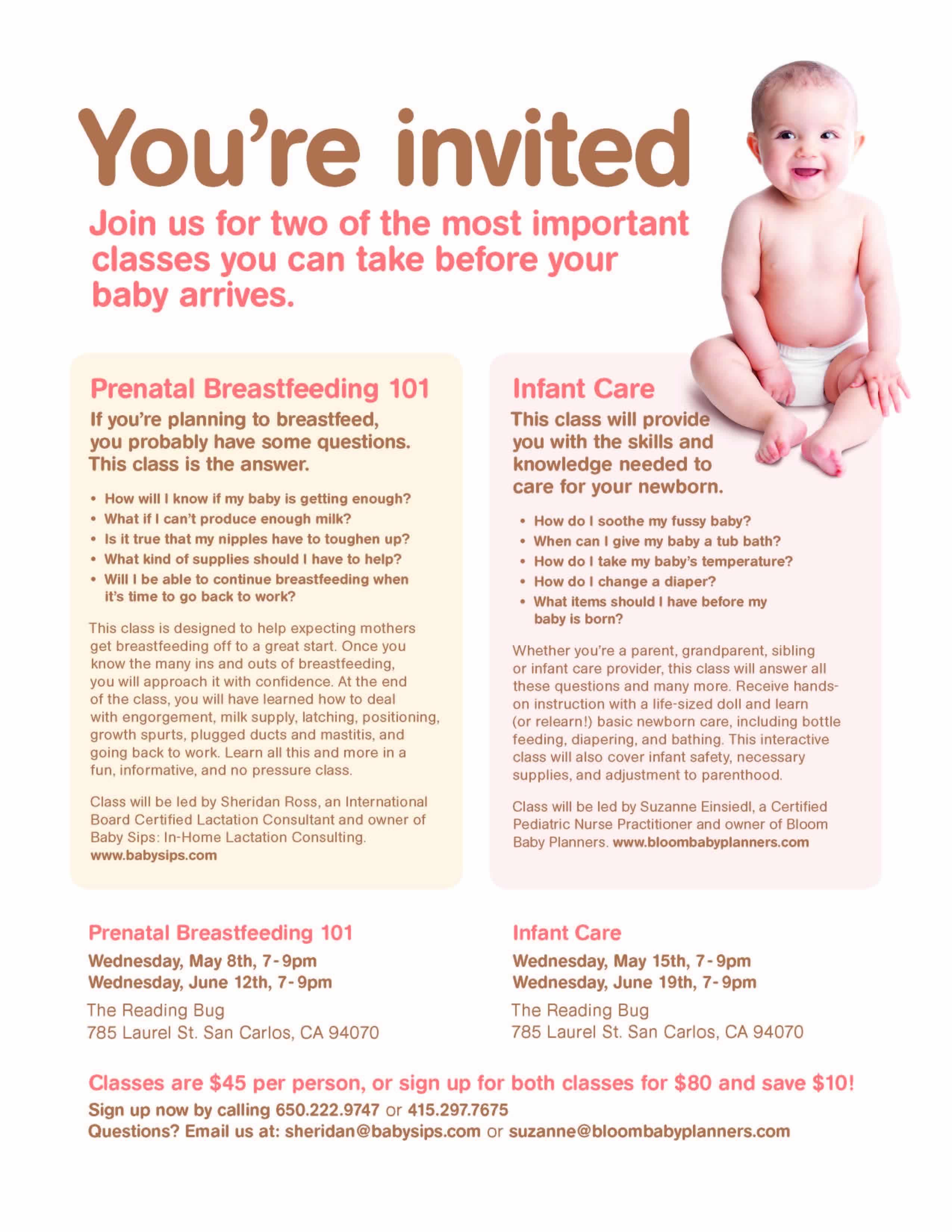 Prenatal Breastfeeding 101 & Infant Care